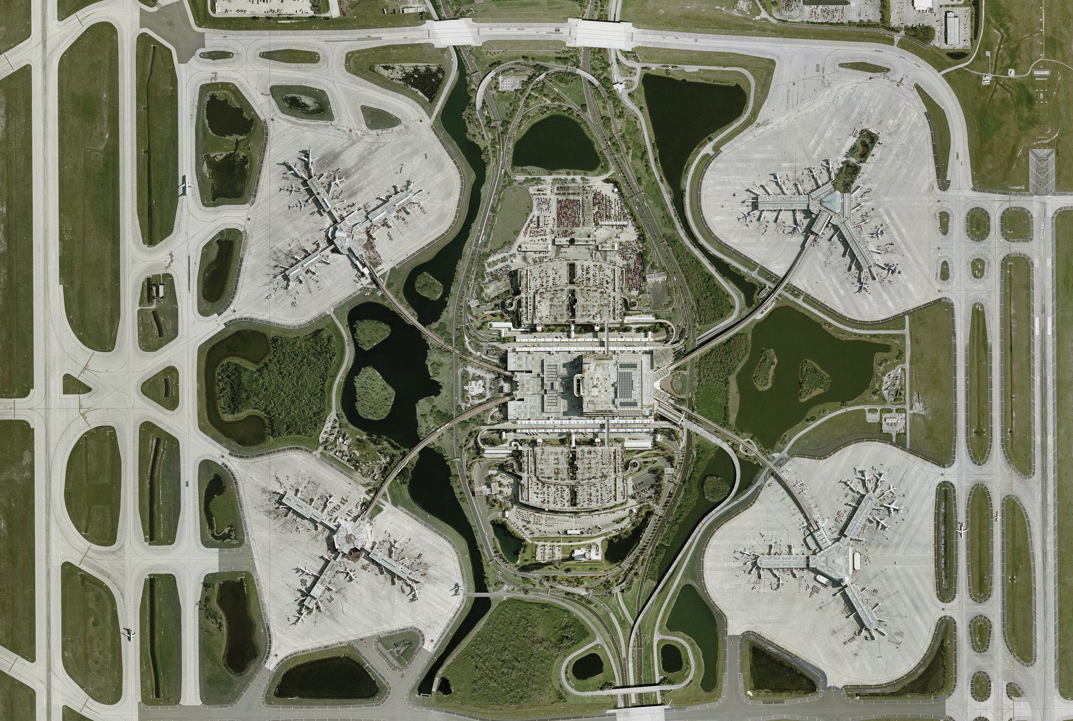 Aerial View of Terminals