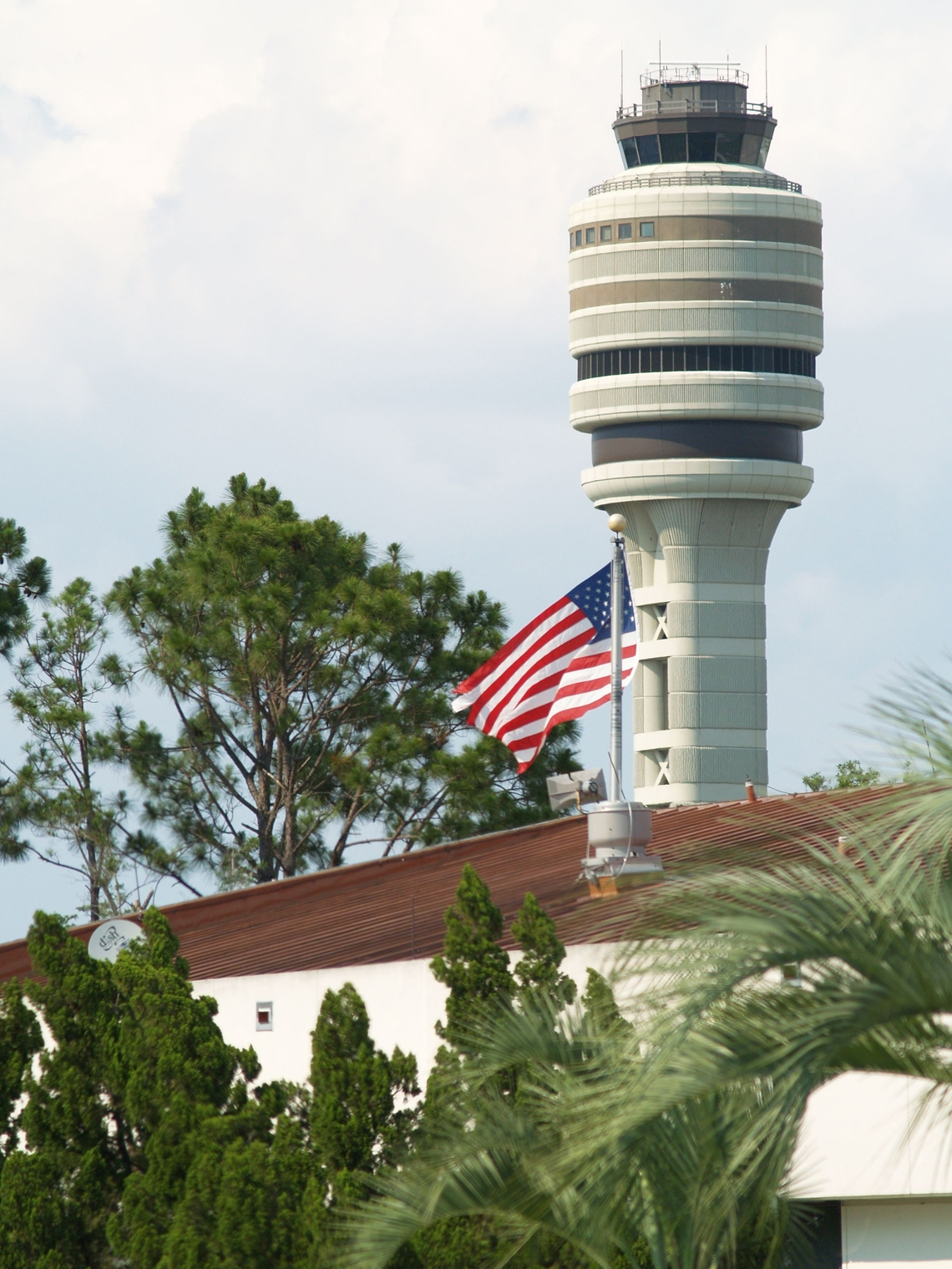 FAA Tower with Flag
