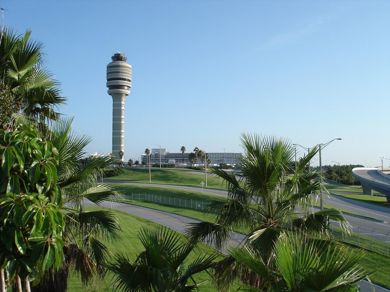 FAA Tower/Terminal Through Palms