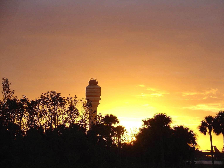 FAA Tower at Sunrise
