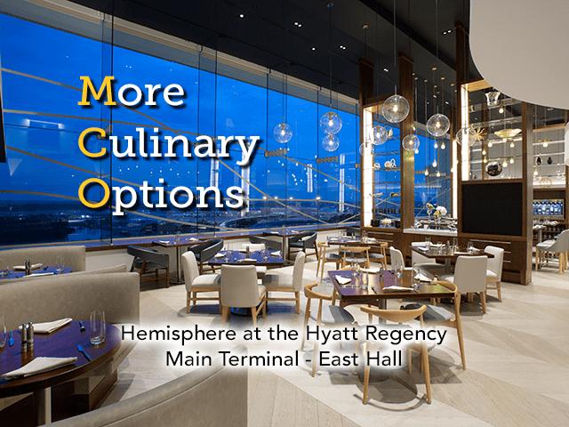 Un plus grand choix de restaurants - Hemisphere vient d'ouvrir ses portes au Hyatt Regency Orlando International Airport