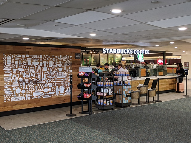 Starbucks, nivel 1, zona B