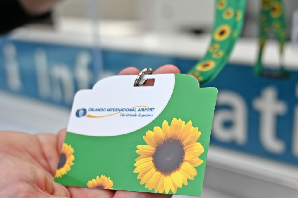 Sunflower Lanyard's Blooming at Orlando International Airport to Assist Travelers with Hidden Disabilities