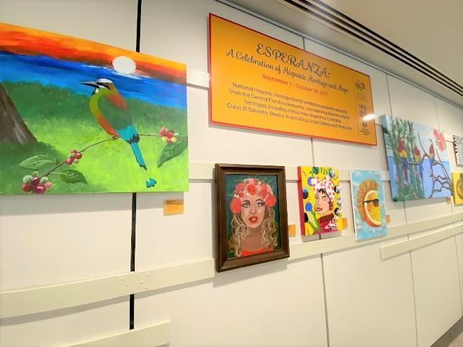 Orlando International Airport Exhibit Celebrates Hispanic Heritage Month