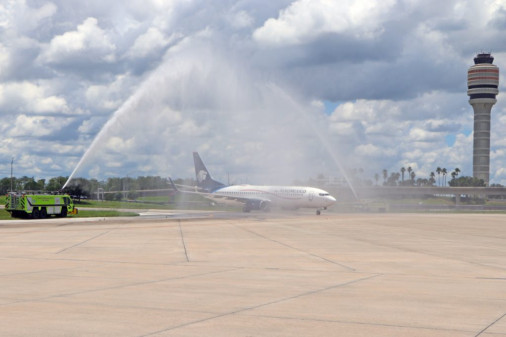 AeroMexico Flight Marks the Return of Service by International Air Carriers at Orlando International