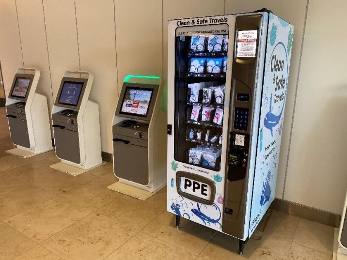 Orlando International Airport Installs Personal Protective Equipment Vending Machines